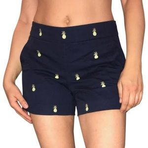 J Crew Pineapple City Fit Chino Shorts
